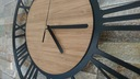 zegar ścienny Vintage Loft cichy duży 3D drewno Średnica 38 cm