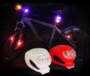 DIODOWA LAMPKA ROWEROWA LED PRZÓD TYŁ 2 SZTUKI MOC Kod producenta lampki led na rower diodowe - 13606