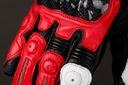 RĘKAWICE MOTOCYKLOWE HUSAR RED PRO czerwone r. L Typ Sportowe