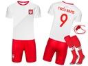 Strój piłkarski POLSKA + getry WŁASNY NADRUK - 134