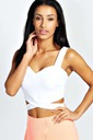 BOOHOO BLUZKA CROP TOP BRALETKA CUT OUT S 36 E935
