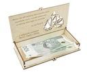 AŻUROWE Pudełko Na Pieniądze Pamiątka GRAWER ŚLUB