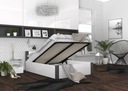 Łóżko BOSTON 140x200 + materac + stelaż Kolor mebla Biały