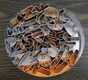 ПРЕССФОРМЫ формочки БУКВЫ Буквы металлические - окружность
