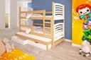 Łóżko piętrowe OLEK 3 osobowe Marka Green Elephant