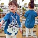Jeansowa koszula 104 asymetryczna królik Bugs Rozmiar 104