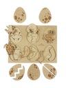 Puzzle drewniane Stuka Puka jajka 28 X 36 CM