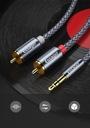 KABEL HQ MINI JACK 2x RCA CINCH STEREO GOLD HD 3M Złącza minijack (3,5 mm) - 2x RCA (cinch)