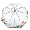 Parasol PRZEZROCZYSTY FLAMINGI parasolka KOPUŁOWA