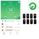 SMARTBAND OPASKA T9 ACTIVE BAND SPORT FIT iOS Cechy dodatkowe Bluetooth kurzoodporność podświetlany wyświetlacz wstrząsoodporność