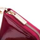 BETLEWSKI portfel damski lakierowany skóra węża Kolor czerwony