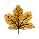 Naszywka Jesienny złoty liść klonu - duży HAFT