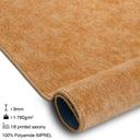 GRUBA MIĘKKA WYKŁADZINA ZŁOTY 300cm 3M ^*X351 Kolor beżowy miedziany odcienie pomarańczowego odcienie żółtego