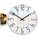 Zegar ścienny ModernClock SLIM Biało - Szary CICHY Zasilanie bateryjne