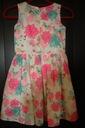 Elegancka letnia sukienka- roz. 134 Zapięcie zamek