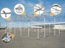6x12m 2-3,09m Namiot ogrodowy handlowy całoroczny Sezon całoroczny