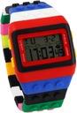 Zegarek Klocki JELLY WATCH Damski Męski Sportowy Materiał paska tworzywo sztuczne