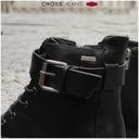 Botki CROSS Jeans damskie czarne buty EE2R4086 37 Długość wkładki 23.5 cm