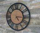 zegar ścienny Vintage Loft cichy duży 3D drewno Kod produktu 000