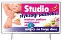 Baner reklamowy 2x1 - Manicure Projekt Gratis Rodzaj drukowany pod wymiar