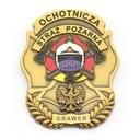 Добровольная Пожарная Охрана ЗНАЧОК ОПС с гравировкой доставка товаров из Польши и Allegro на русском