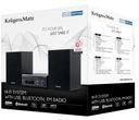 Mikrowieża z CD port USB Bluetooth radio FM B4W Cechy dodatkowe wyświetlacz LCD