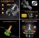 Najlepsze LED H4 CSP 16.000Lm Bardzo Mocne CANBUS EAN 6935151423511
