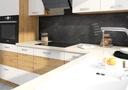 Meble kuchenne Artisan mała biały połysk blat Montaż meble do samodzielnego montażu