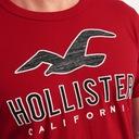 HOLLISTER by Abercrombie T-Shirt Koszulka USA M Kolor czerwony