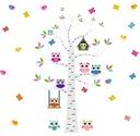 Naklejki ścienne dla dzieci drzewo SOWY 250x190 cm
