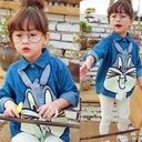 Jeansowa koszula 104 asymetryczna królik Bugs Płeć Dziewczynki