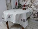 Скатерть праздничный 130x180 Серый елки подарок