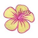 Naszywka - Kwiat hibiskus - żółty, haftowany kwiat