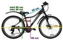 Rower mtb górski 26 Rayon Vanity HT 21bieg KOMUNIA Waga 15 kg