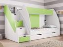 Łóżko piętrowe Dziecięce Młodzieżowe MARCINEK Liczba miejsc do spania 2