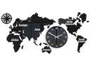 Zegar Mapa Świata 110x55 Duży nowoczesny cichy 3D доставка товаров из Польши и Allegro на русском