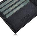 BETLEWSKI Portfel męski skórzany RFID cienki mały Kolor czarny