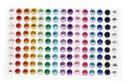 Kryształki samoprzylepne perły cyrkonie dżet 180st