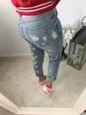 Spodnie, Jeansy Boyfriend z przetarciami S Marka inna
