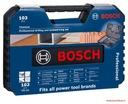 комплект ОБОРУДОВАНИЯ Bosch PROFESIONAL 103 СВЕРЛА биты