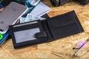 BETLEWSKI Portfel męski skórzany skóra RFID duży Kolor czarny