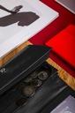 Duży portfel damski BETLEWSKI skórzany organizer Kolor czarny