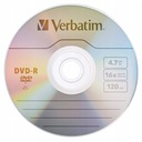 Płyty VERBATIM DVD-R 4,7GB Cake 50 + marker Promoc Pojemność 4,6 GB