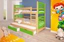 Łóżko piętrowe OLEK 3 osobowe Cechy dodatkowe dwuosobowe trzyosobowe z materacem z pojemnikiem na pościel