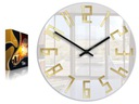 Zegar ścienny ModernClock SLIM ZŁOTE CYFRY CICHY