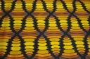 BAWEŁNA, elastan, ciekawy wzór. PIEGATEX Kolor wielokolorowy żółcie czerń beże i brązy