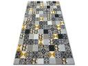 DYWAN LISBOA 120x170 PŁYTKI żółty / szary #B459