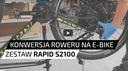 """RAPID S-1100 48V 26"""" cz/k konwersja na ebike Amortyzacja przód i tył"""