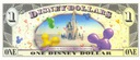 DISNEYLAND 1 Доллар 2009 ПЛУТО И МИККИ UNC