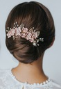 Grzebyk złoty stroik ozdoba do włosów kwiaty ślub Rodzaj grzebyk